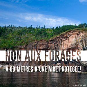 Non aux forages-aires protégées
