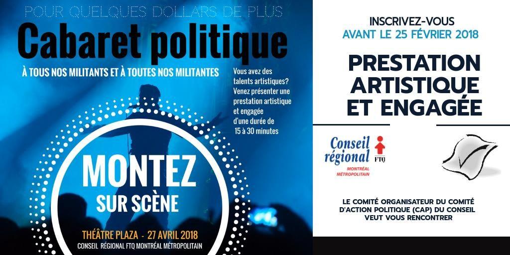 CABARET POLITIQUE DU CONSEIL @ Théâtre Plaza