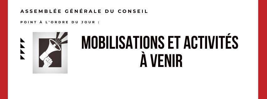 Mobilisations à venir