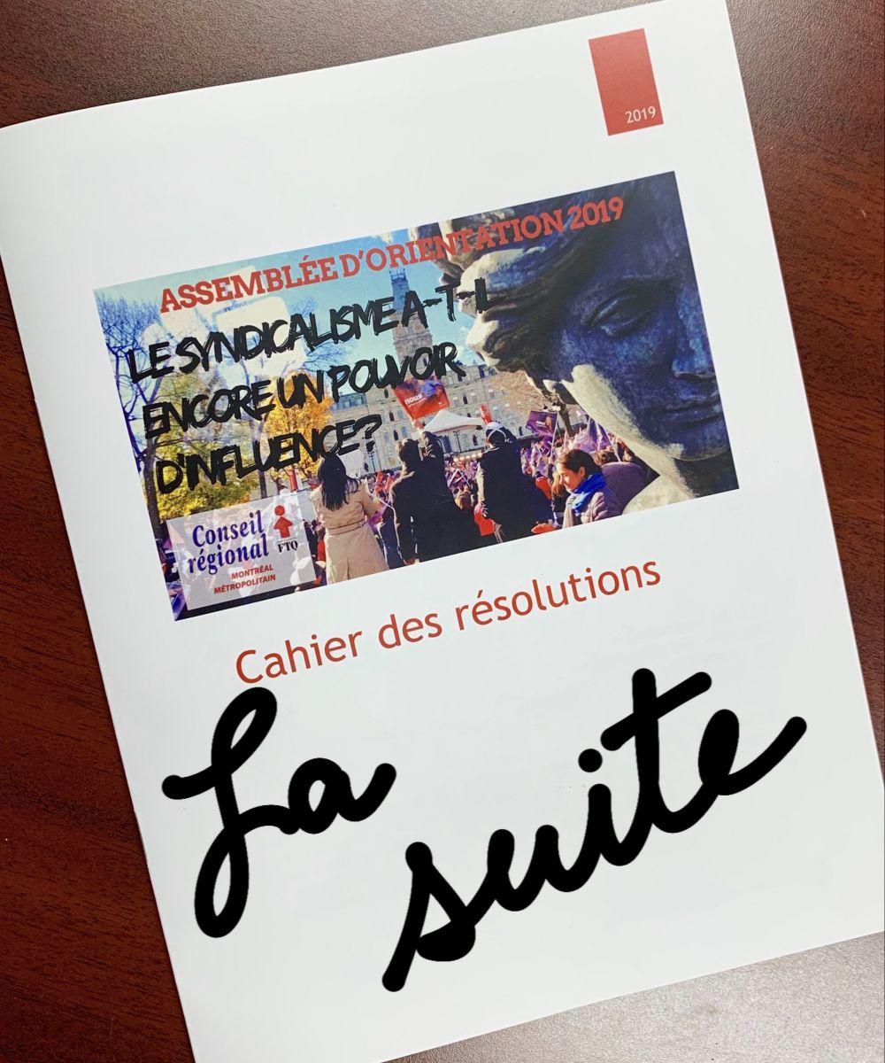 Cahier des résolutions