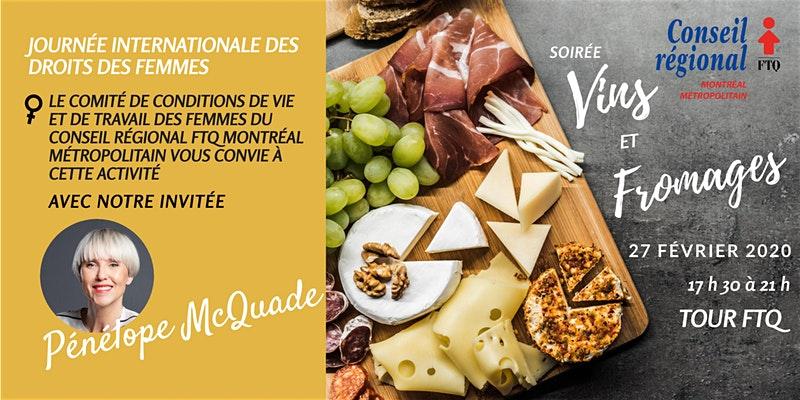 Soirée Vins et fromages @ Tour FTQ - 2e étage
