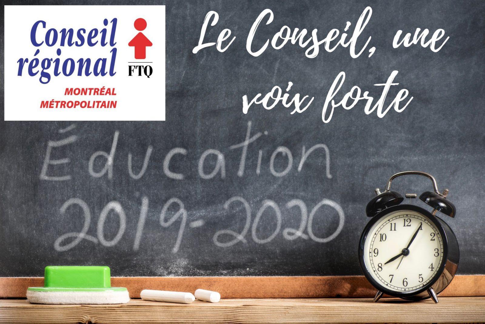 Calendrier d'éducation 2019-2020